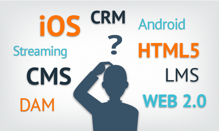ANDROID, APP, CMS, CRM, DAM, IOS, LMS, STREAMING, WEB 2.0